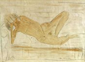 Otto Mueller - Reclining Female Nude