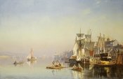 Carl Neumann - Fishing Boats and Barges On The Thames