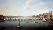 Joseph Nicholls - A View of The Thames at Westminster Bridge