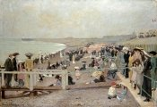 Ernest Oppler - The Beach, Dieppe