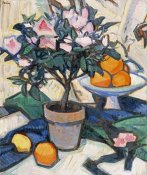 Samuel John Peploe - Pink Azalea and Oranges