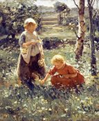 Evert Pieters - Children In a Field