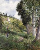 Camille Pissarro - Landscape 'With Cabbage' Near Pontoise