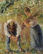 Camille Pissarro - Farm Labourers Planting Stakes