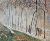 Camille Pissarro - The Path, Effect of Snow