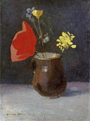 Odilon Redon - A Pitcher of Flowers
