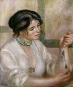 Pierre-Auguste Renoir - Woman With a Collar. Femme Au Collier