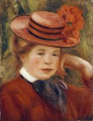 Pierre-Auguste Renoir - A Young Girl With a Red Hat