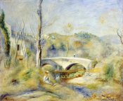 Pierre-Auguste Renoir - Landscape With Bridge