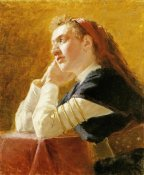 Ilia Efimovich Repin - Portrait of a Young Woman
