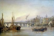 Thomas Miles Richardson - A View of Newcastle From The River Tyne