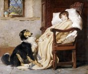 Briton Riviere - Old Playfellows