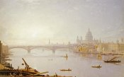 George Fennel Robson - Southwark Bridge and St. Paul's Cathedral