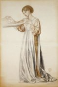 Dante Gabriel Rossetti - Study For a Pall Bearer In Dante's Dream