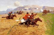 Franz Alekseevitch Roubaud - Cossacks Charging Into Battle