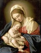 Giovanni Battista Salvi - The Madonna and Child