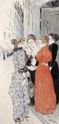 Theophile Steinlen - Women Conversing In The Street