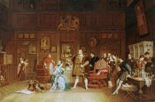 Marcus Stone - Henry VIII and Anne Boleyn Observed By Queen Katherine
