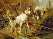 Philip Eustace Stretton - Two Smooth-Haired Fox Terriers