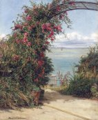 Frank William Warwick Topham - A Garden By The Sea