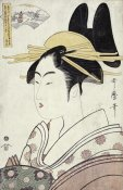 Kitagawa Utamaro - Courtesan Representing The Hagi