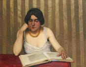 Felix Vallotton - Reader With a Yellow Necklace