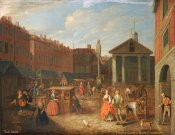 Joseph Van Aken - View of Covent Garden Market