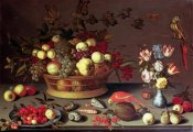 Balthasar Van Der Ast - A Basket of Grapes and Other Fruit
