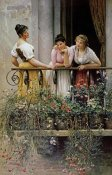 Eugene Von Blaas - The Balcony