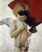 Franz Von Stuck - Cupid at The Masked Ball