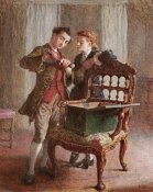Frederick Walker - A Drawing Room Scene