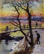 Carl Wilhelm Wilhelmson - The Footbridge, Lidingobron