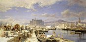 Franz Theodor Aerni - The Harbour of Naples