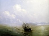 Ivan Konstantinovich Aivasowsky - A Sailing Boat In a Heavy Swell