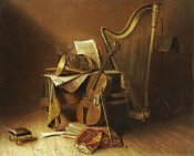 American School - Still Life With Musical Instruments