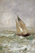 Mose Bianchi - A Sailing Boat In a Choppy Sea