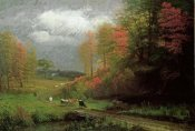 Albert Bierstadt - Rainy Day In Autumn, Massachusetts
