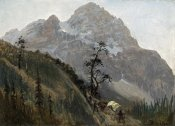 Albert Bierstadt - Western Trail, The Rockies