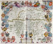 Johannes Blaeu - Map of Germany Centred on Frankfurt