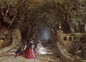 John Edmund Buckley - Elegant Figures on a Wooded Path
