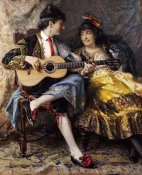 Arthur Alfred Burrington - A Spanish Singer and His Lady