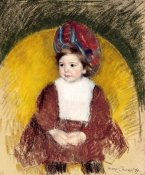 Mary Cassatt - Margot In a Dark Red Costume