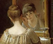 James Wells Champney - The Coquette