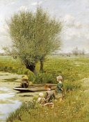 Emile Claus - By The Riverside