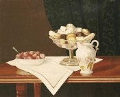 George Cope - Still Life With Sweets and Strawberries