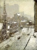 Paul Cornoyer - Winter In The City