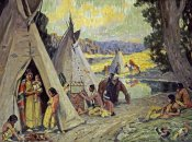 Eanger Irving Couse - Indian Camp