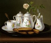 George Forster - Still Life of Porcelain and Biscuits