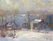 Arthur Clifton Goodwin - Village In Snow
