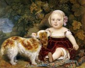 Amila Guillot-Saguez - A Young Child With a Spaniel